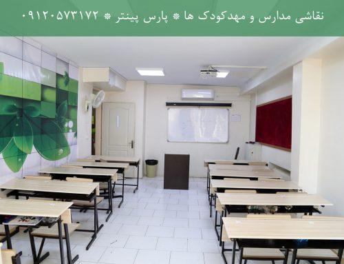 نقاشی و رنگ آمیزی مدرسه و محیط های آموزشی و مهدکودک – نقاشی ساختمان مدرسه
